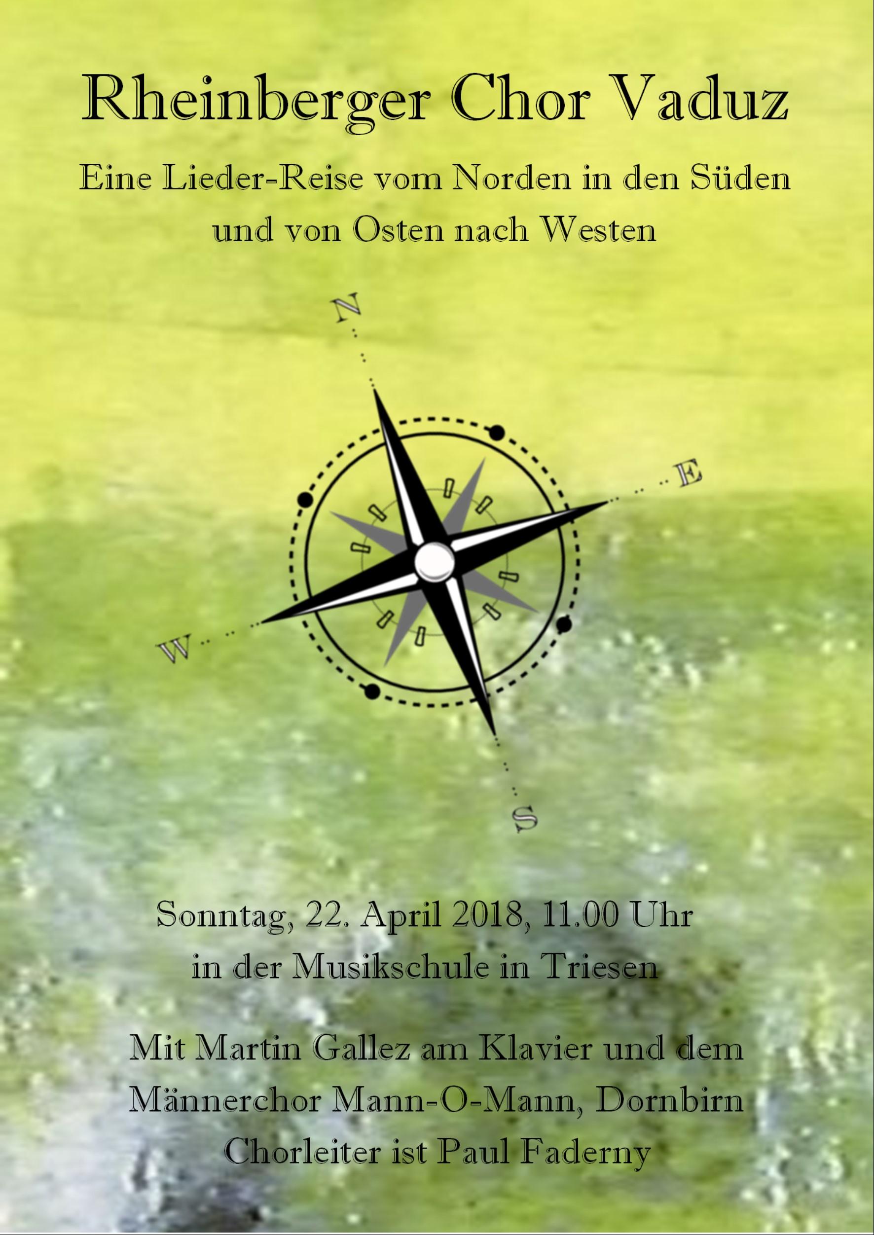 Lieder-Reise Flyer